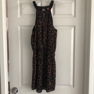 Eight Sixty leopard halter dress